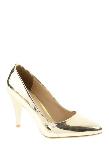 Derigo İnce Topuklu Ayakkabı Altın